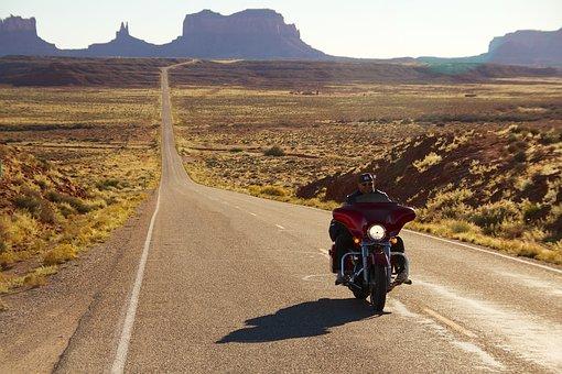 motorradreisen in die sonne