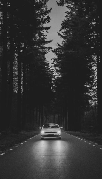 Auto auf weiter Flur